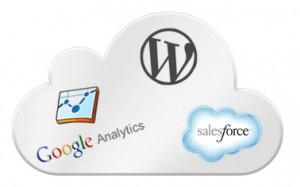 SalesForce WordPress and Google Analytics in a cloud