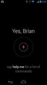 Voice Input Screen For Search