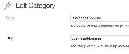 edit wordpress category