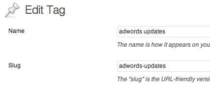 edit wordpress tag