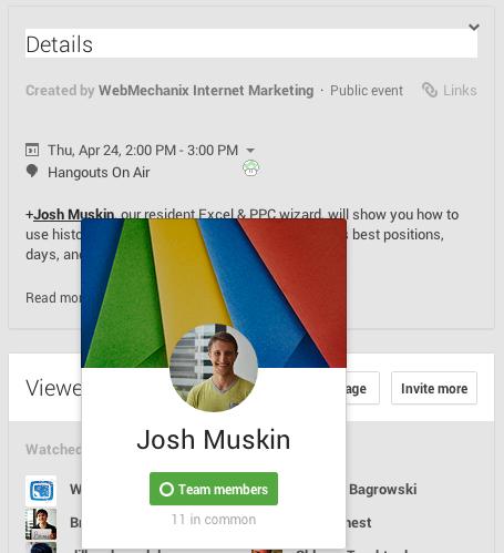 Josh Muskin, the host of the fabulous Adwords training event.