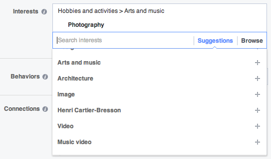Facebook has some business value. Mining it for data. Their interest search is pictured here and super useful.