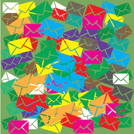 Pile of emails symbolizing difficulty simplifying email sends.