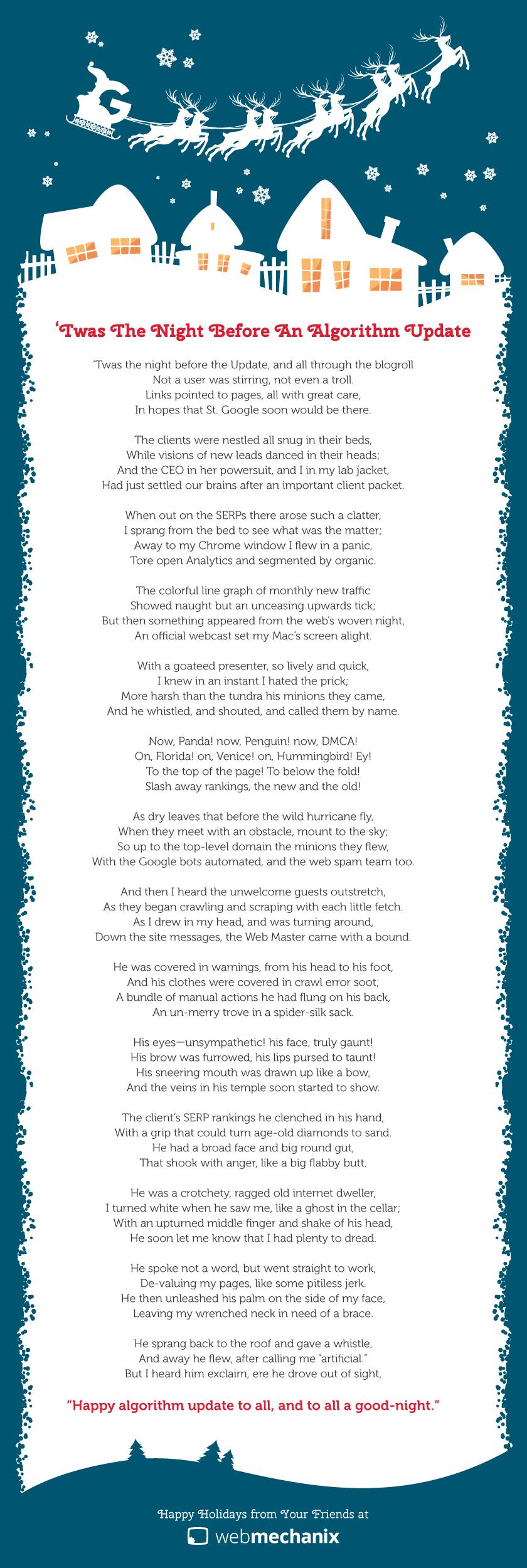 Night Before Algorithm Update SEO Poem