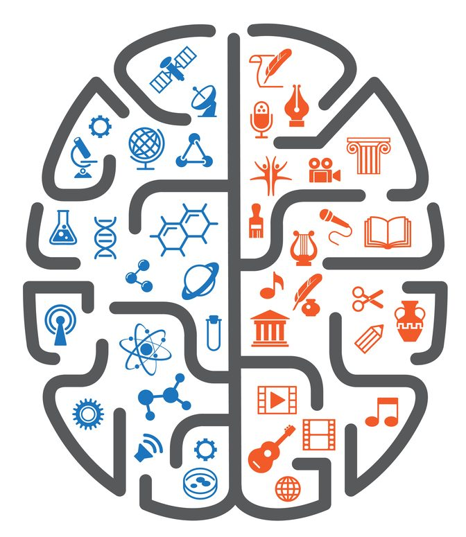 A left-brained person is more logical and analytic. You can have one team that is great with data, logic, numbers, and tech. A right-brained person is more creative and intuitive. The right brain team is one that uses it's creative talent. These are the magicians that create awesome graphics and ads.