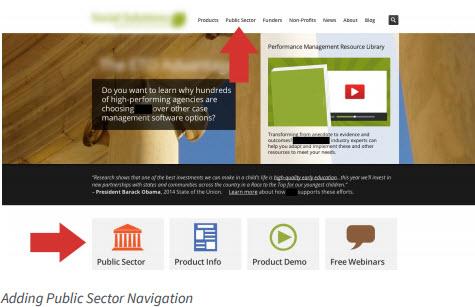 Adding public sector navigation