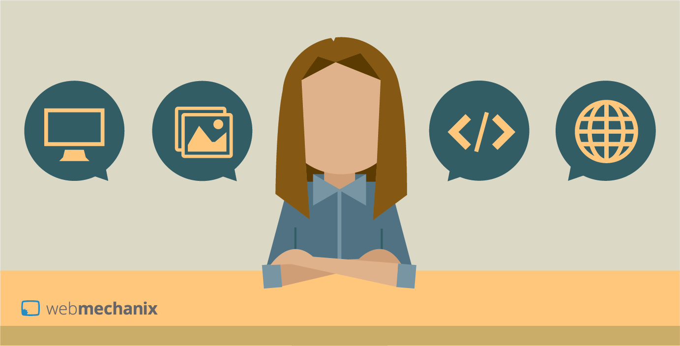 Female web developer illustration