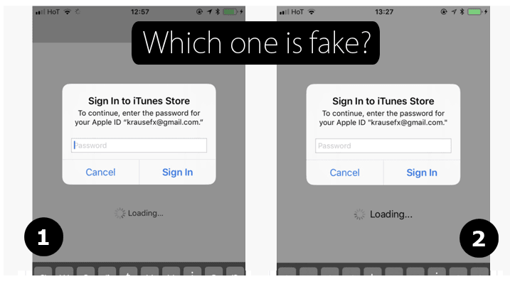 Apple Phishing Scam - Which one is fake?