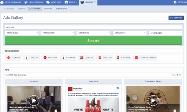AdEspresso, a great Facebook spy tool