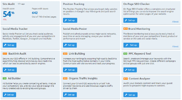 semrush client tools
