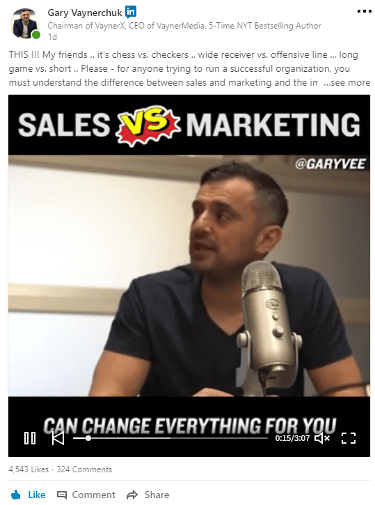 Linkedin b2b marketing new strategy and secrets with Gary Vaynerchuk