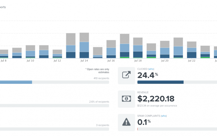 The data-driven results of an email campaign for people who abandoned cart.
