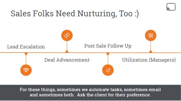 sales team nurturing