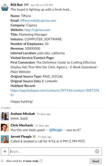 hubspot slack integration example