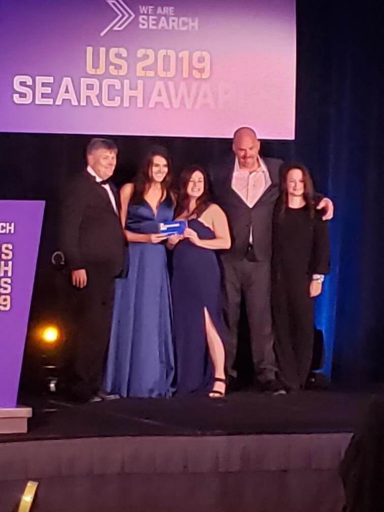US Search Awards webmechanix acceptance photo