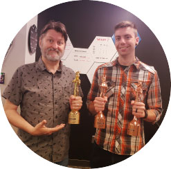 Bart and Justin Holding Design Awards