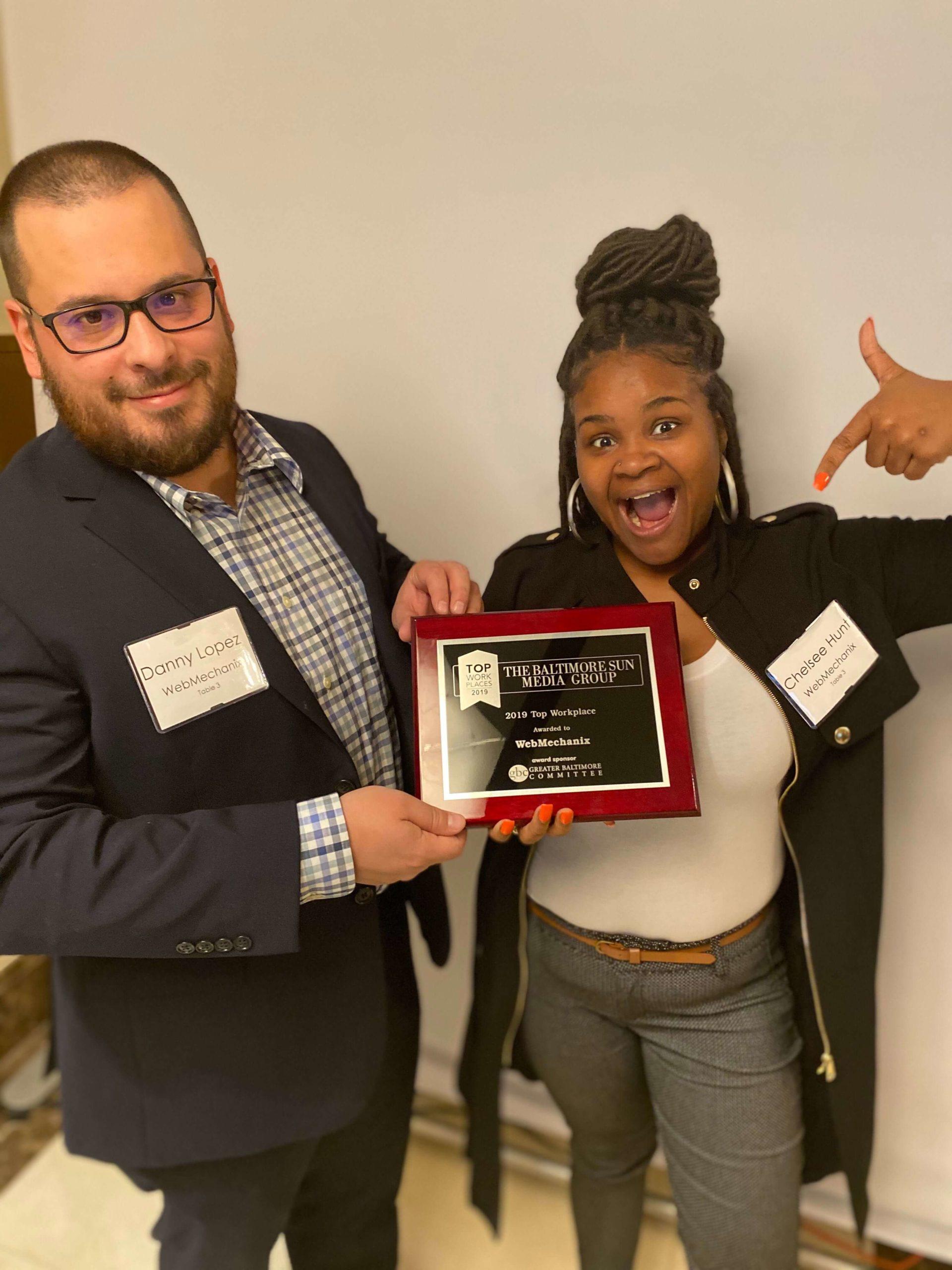 Baltimore Sun Gives the Top Workplace Award to WebMechanix 2019