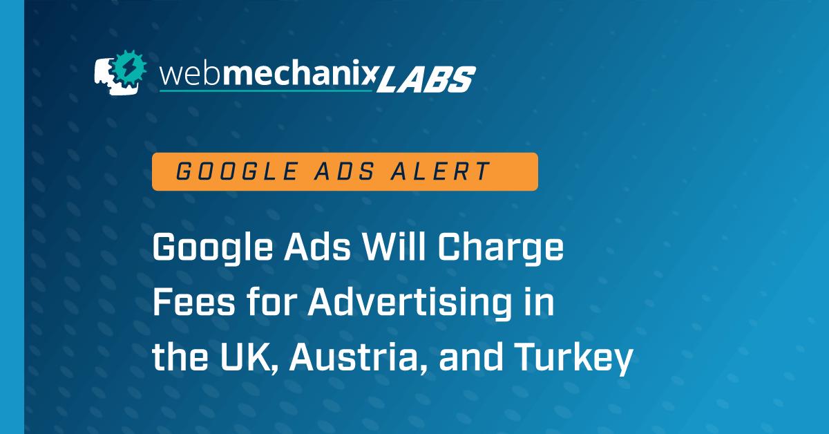 Google Ads International Fees alert