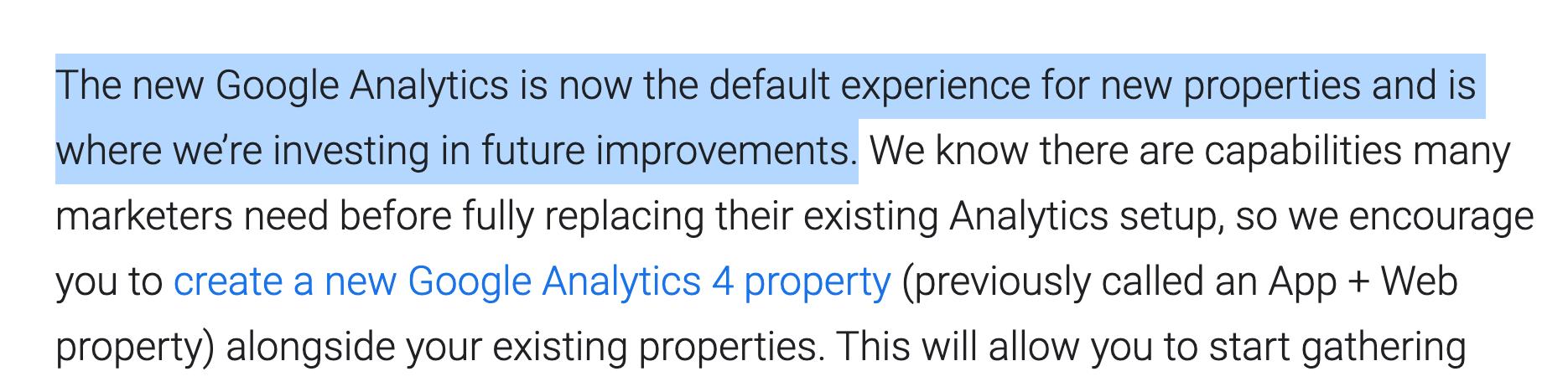 Universal Analytics news post
