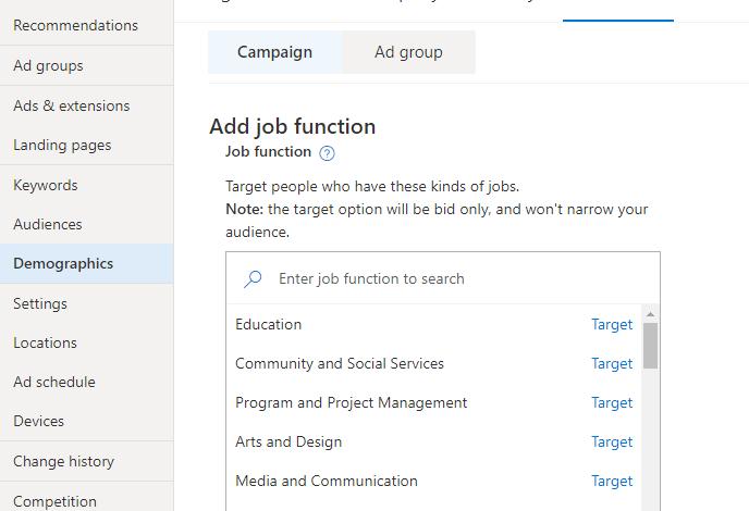 How to add LinkedIn targeting in Microsoft Ads