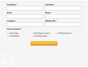 Form Example - Contact WebMechanix